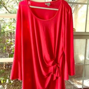 NWT Beautiful coral tunic/blouse